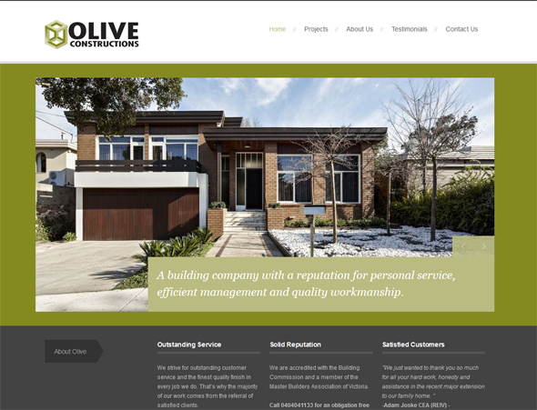 olive-construction web copy