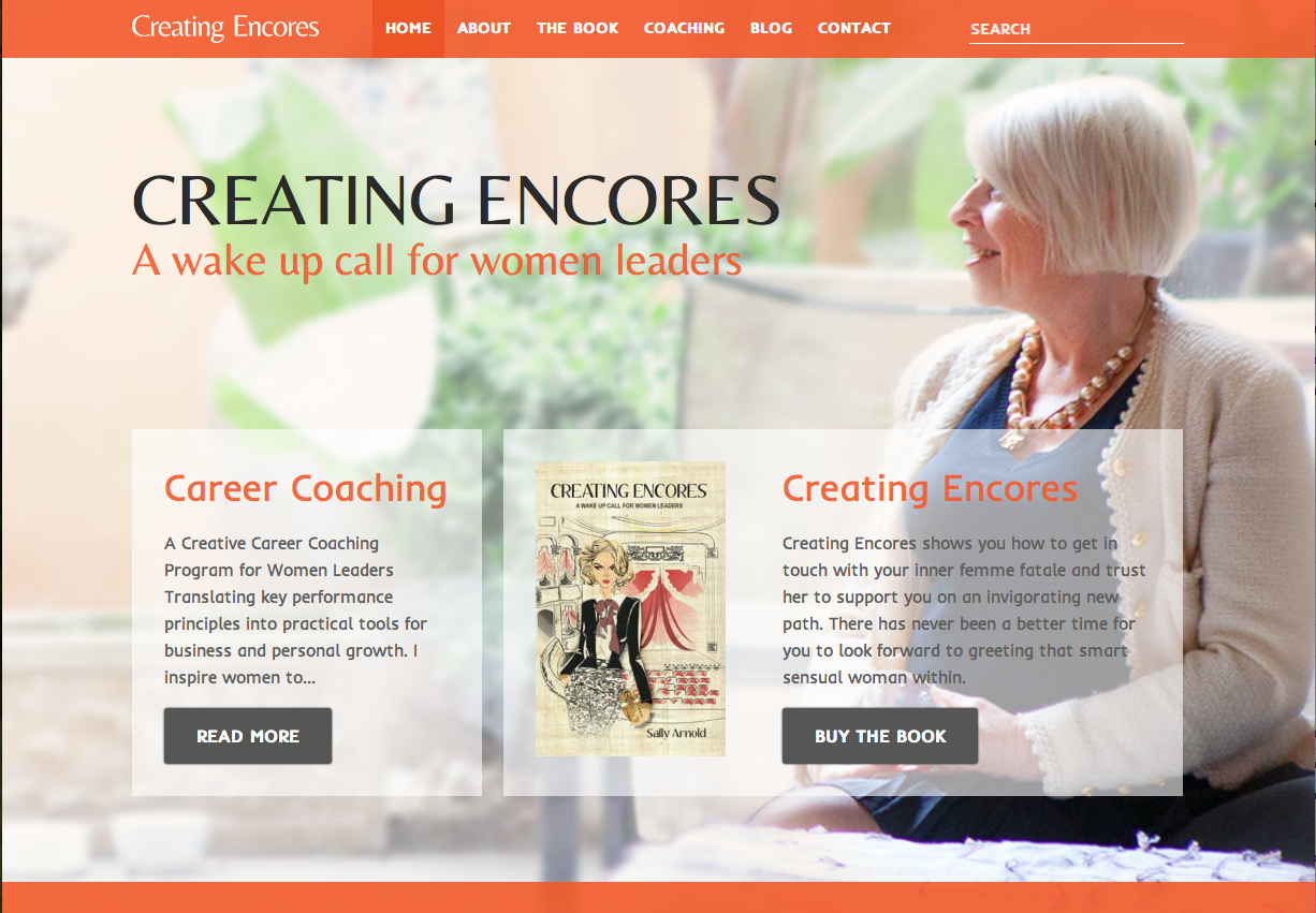 Creating Encores Website Copywriting