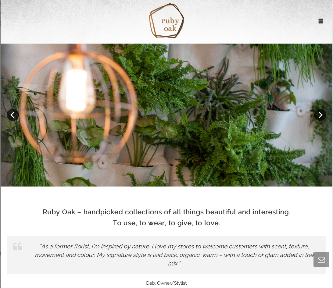 Ruby Oak Website Copywriting