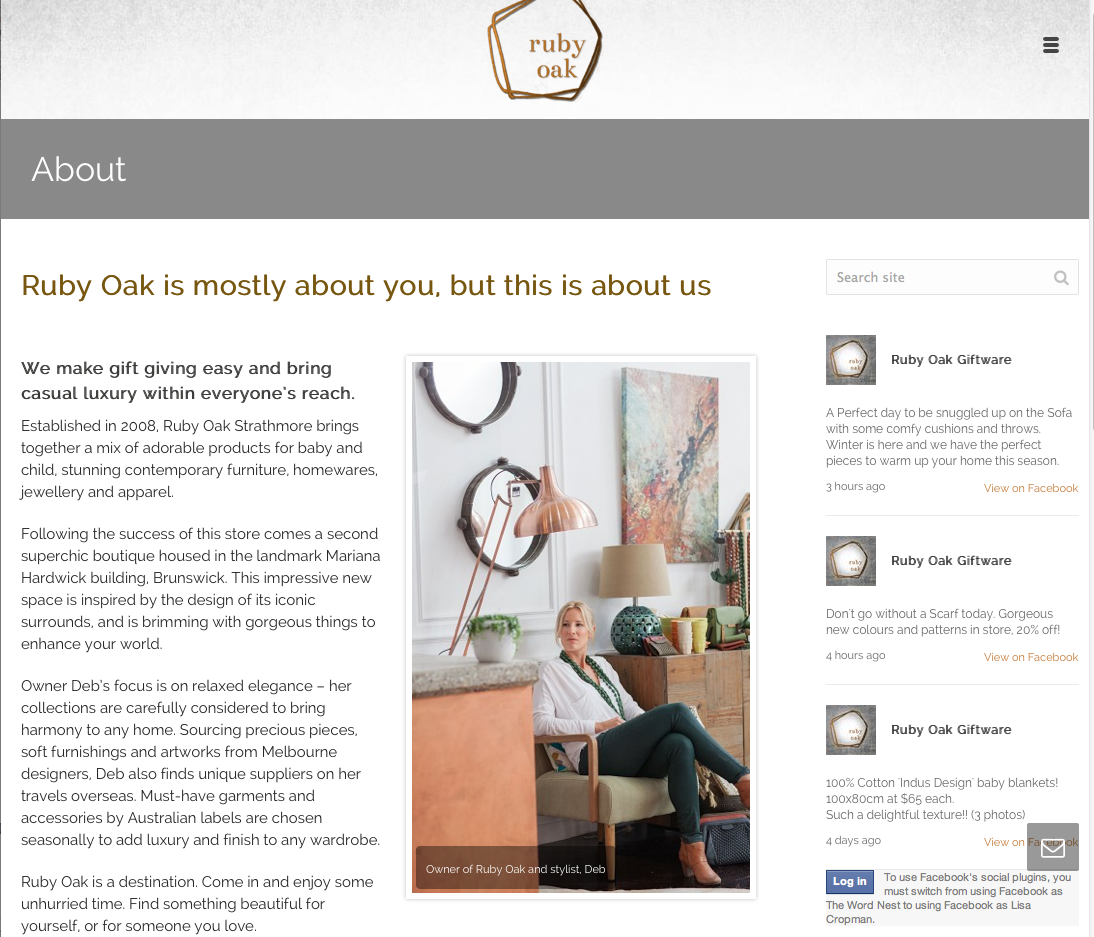 Ruby Oak Web Copy