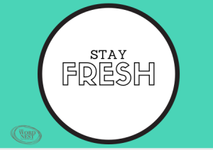 keep your blog fresh