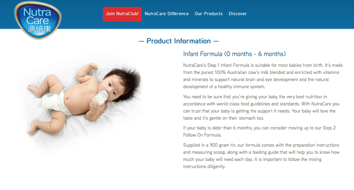 NutraCare web copywriting 1