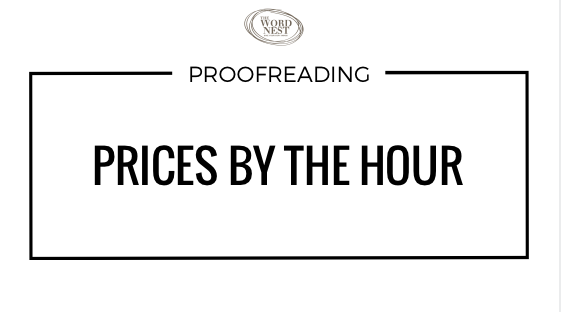 Proofreading prices by the hour