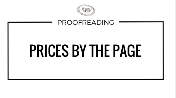 Proofreading prices by the page