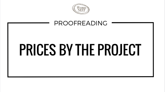 Proofreading prices by the project