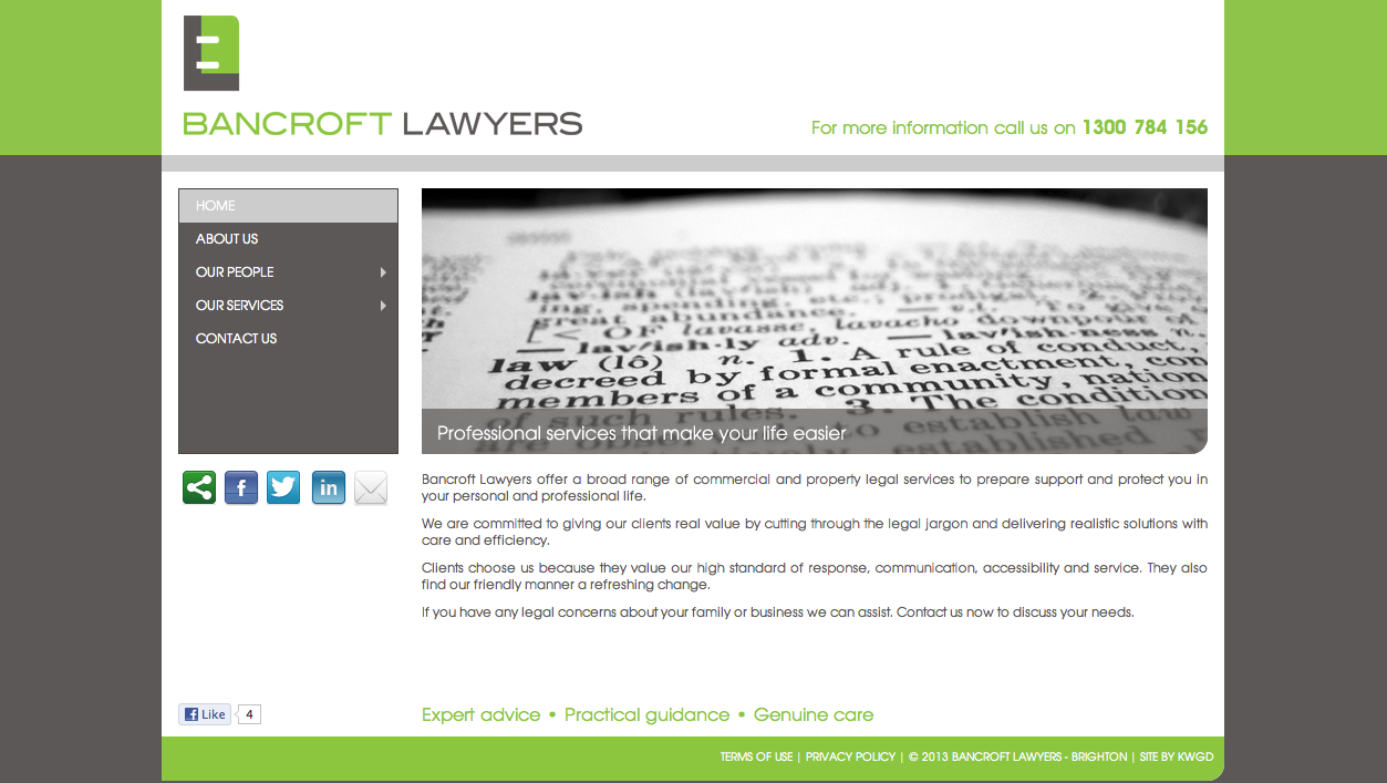 Bancroft Lawyers Website Copywriting