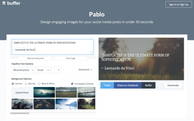 Pablo – how to make eye-catching graphics in 30 seconds