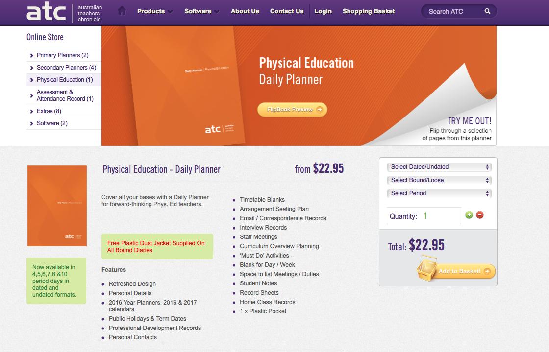 ATC Phys Ed Planner