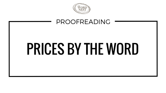 Proofreading prices by the word