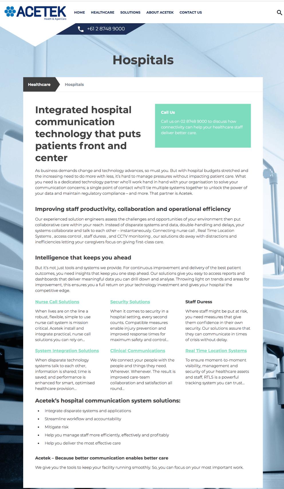 Acetek-web-copy-Hospitals