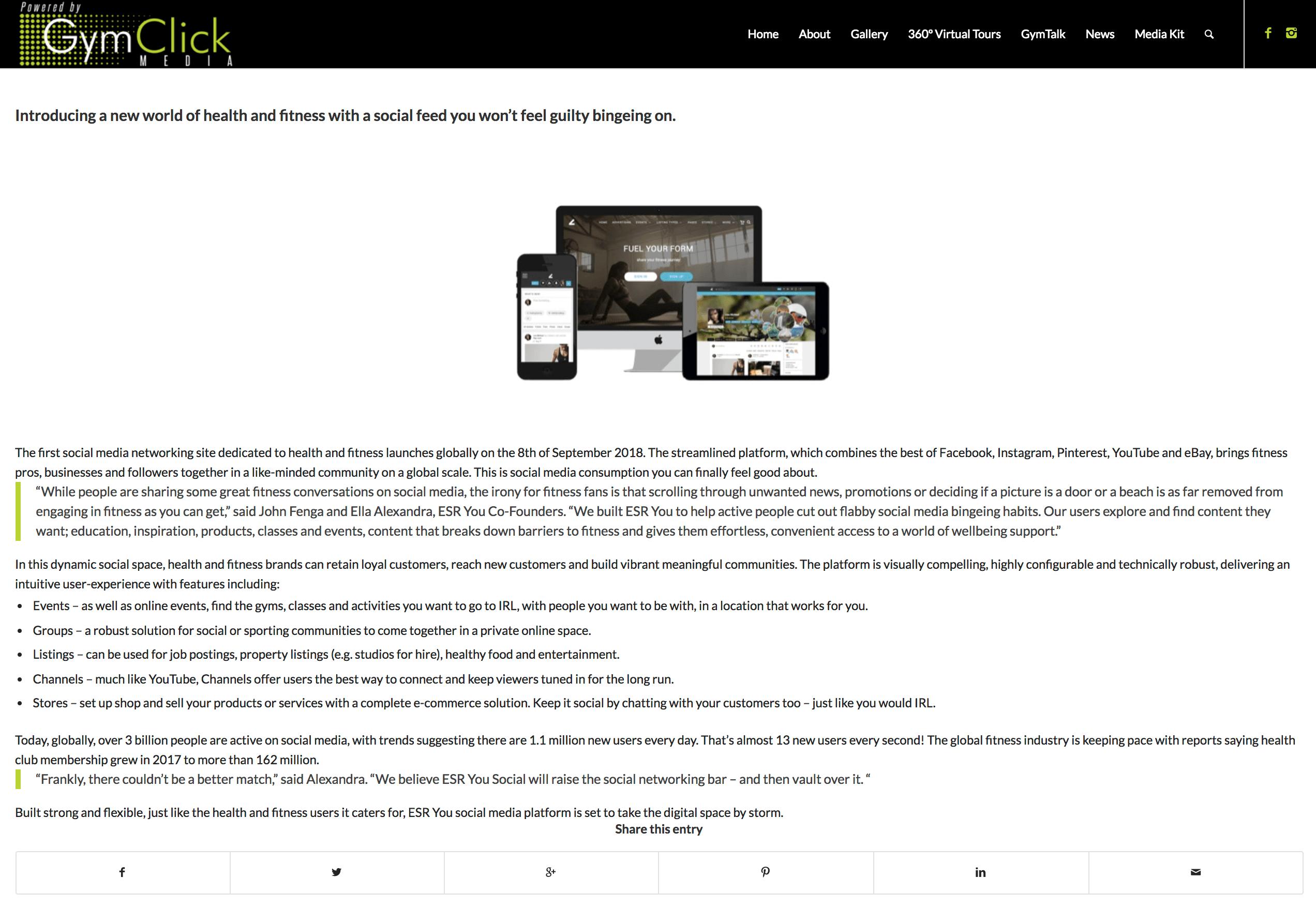 ESRYou-Social-Platform-Press-Release
