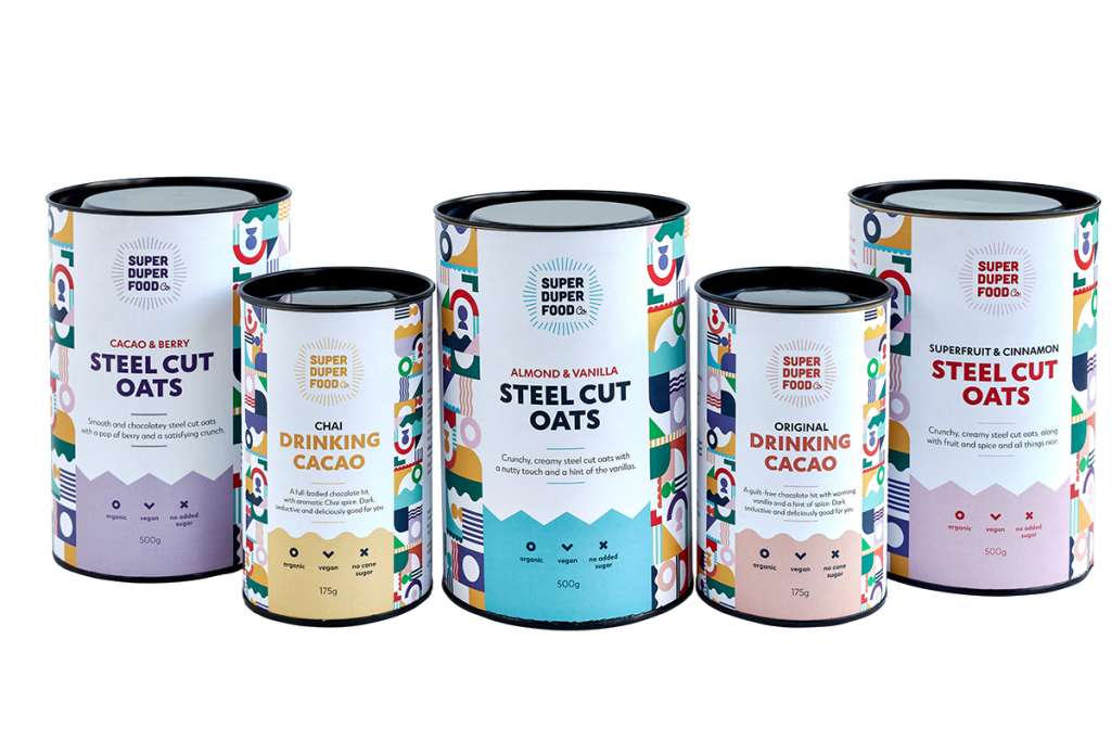 Super Duper Food Co tone of voice and packaging copywriting