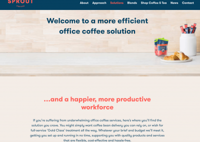 Sprout coffee copywriting - solutions