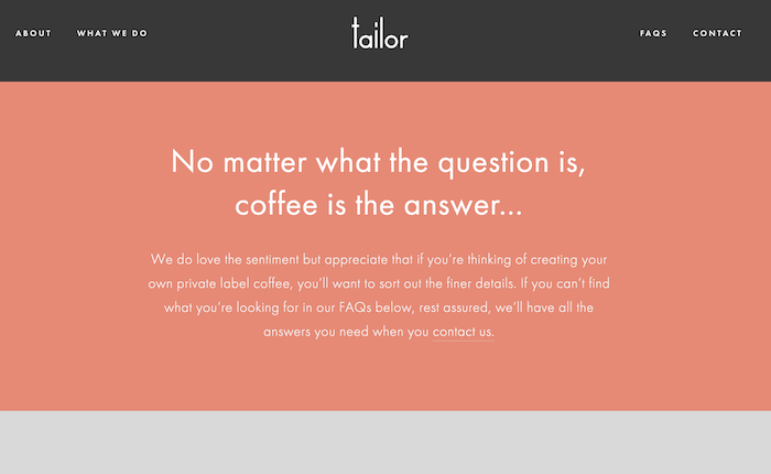 Tailor-coffee-faq-copywriting