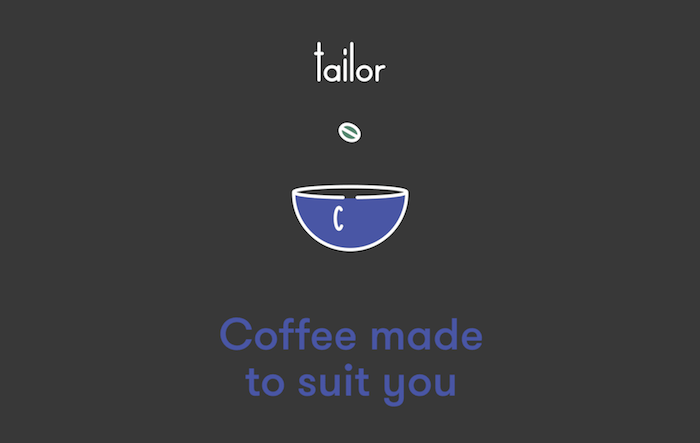 Tailor coffee tagline copywriting