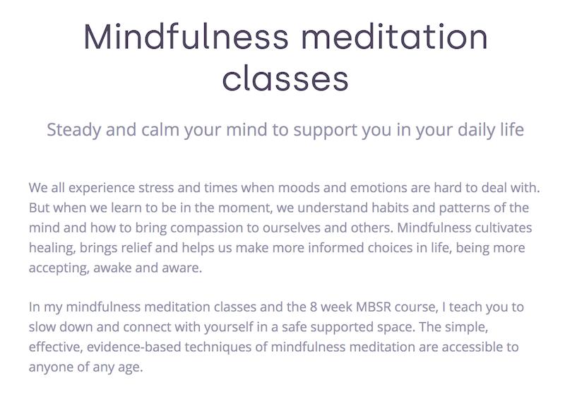 Dyan-Ostrow-Mindfulness-Meditation-website-copywriting